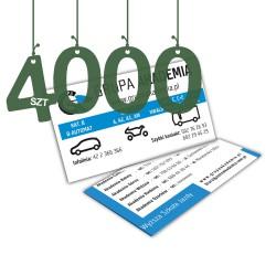 Wizytówki standardowe 4000szt