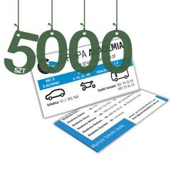 Wizytówki standardowe 5000szt