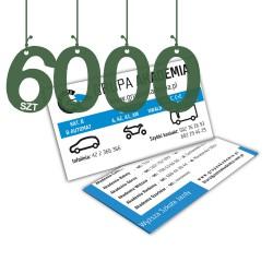 Wizytówki standardowe 6000szt